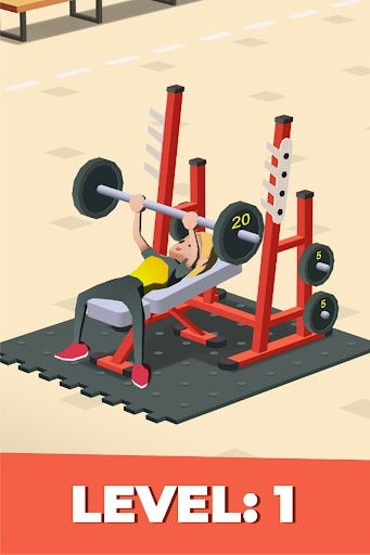 idle fitness gym tycoon gameplay